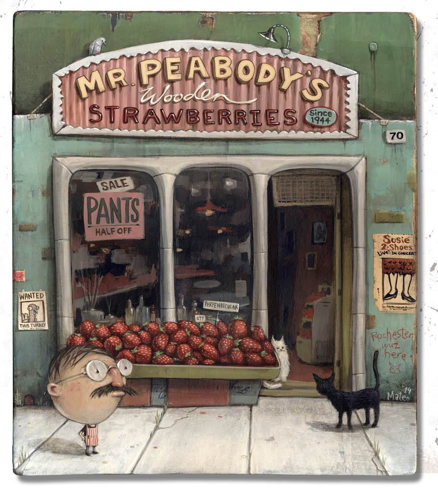 """Mr. Peabody's Wooden Strawberries"""