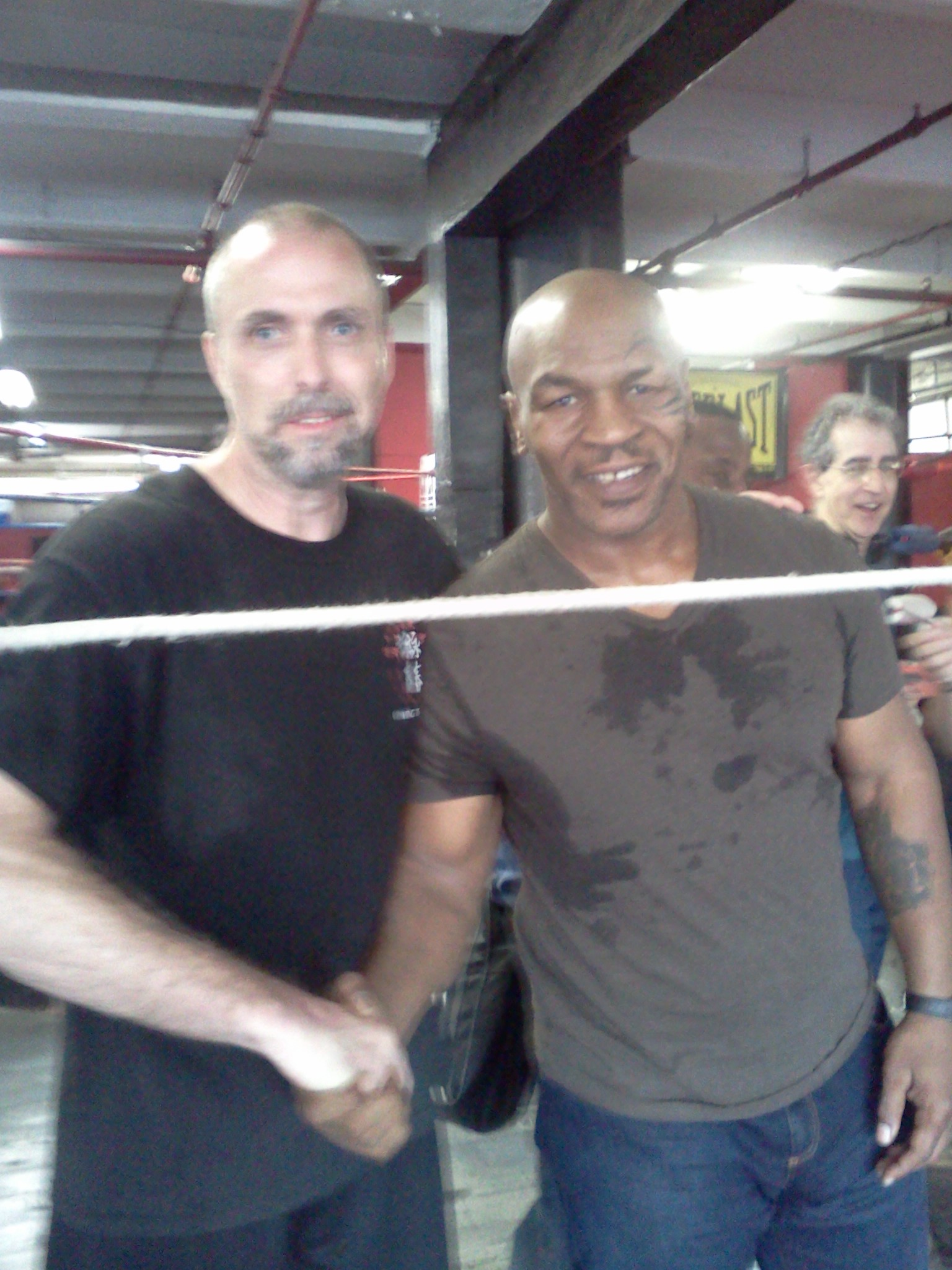 Mike Tyson back at Gleason's