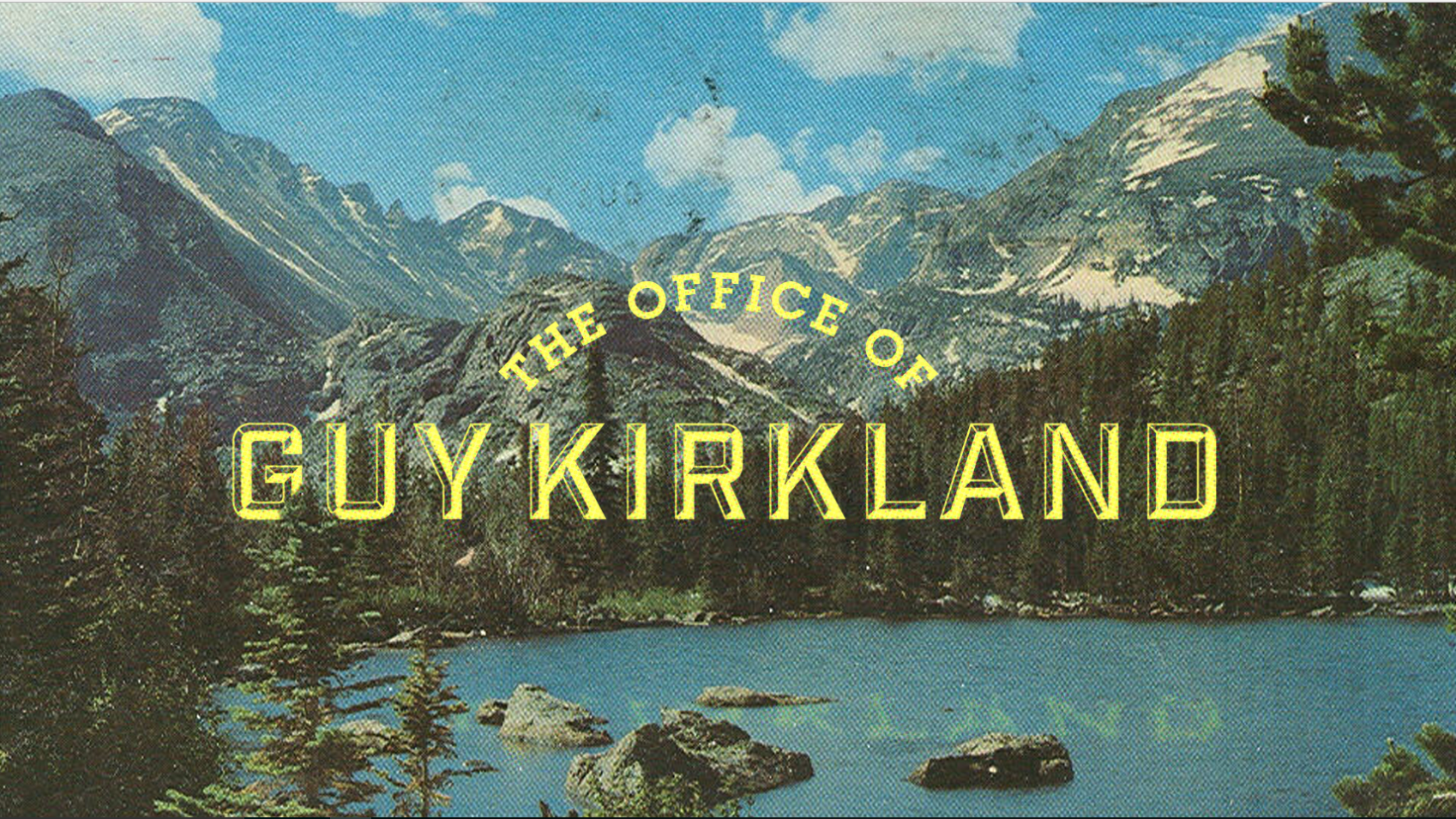 GUY KIRKLAND -- Based in Atlanta, Mr. Kirkland has one of the most fertile imaginations I've ever encountered. I have laughed mightily making chili with this talented man. Plus he has my favorite first name.