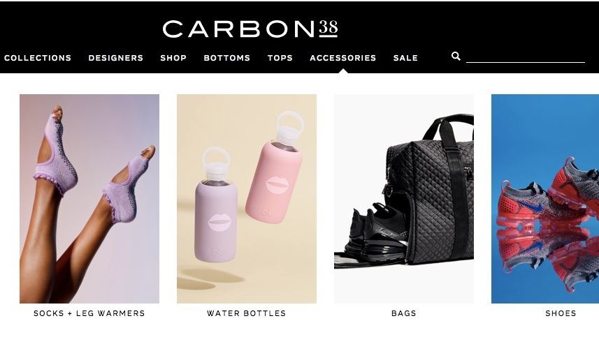 Carbon38 - Not just for athleisure but shoes, bags, water bottles and more!