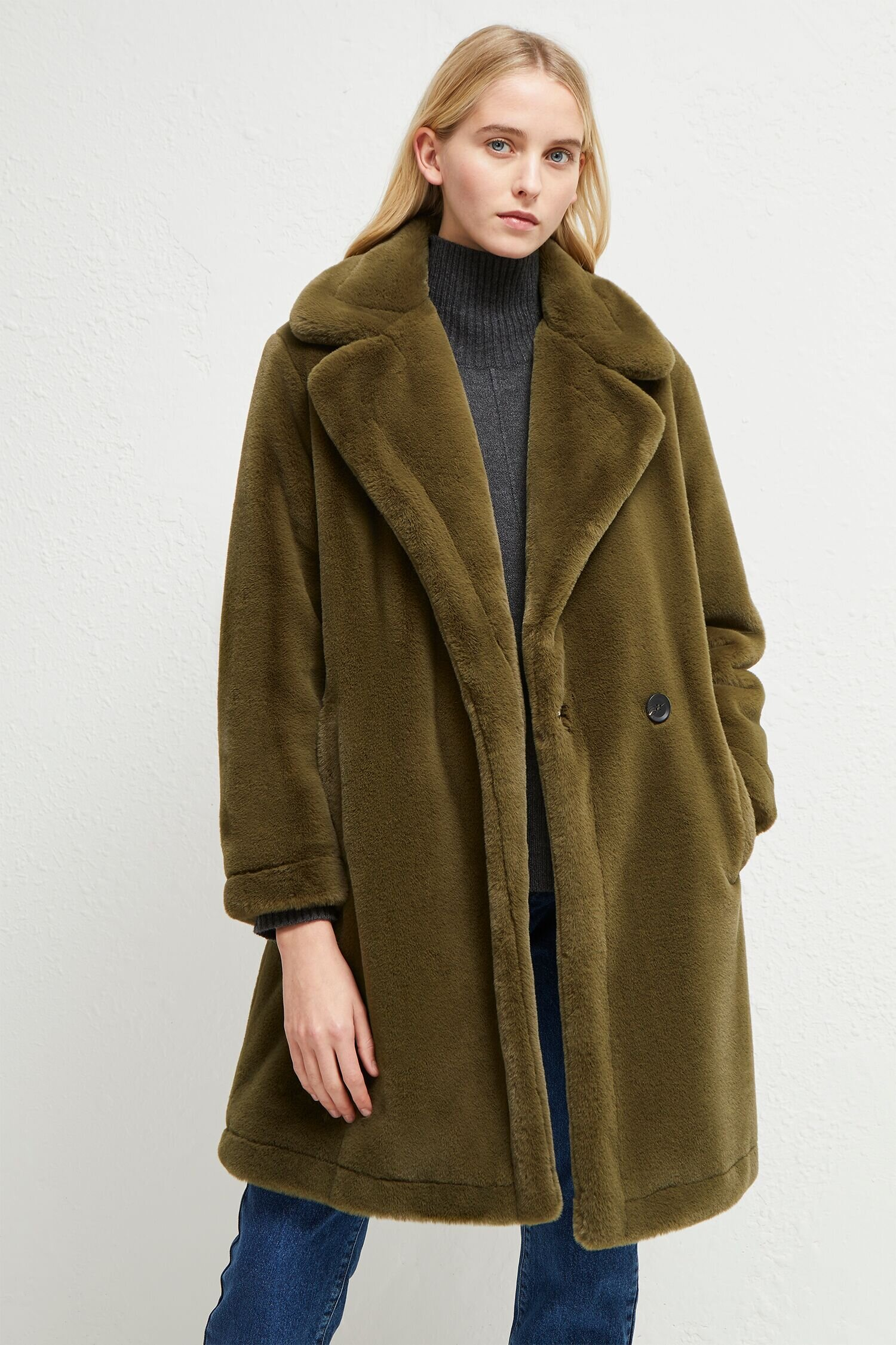 French Connection Buona faux fur
