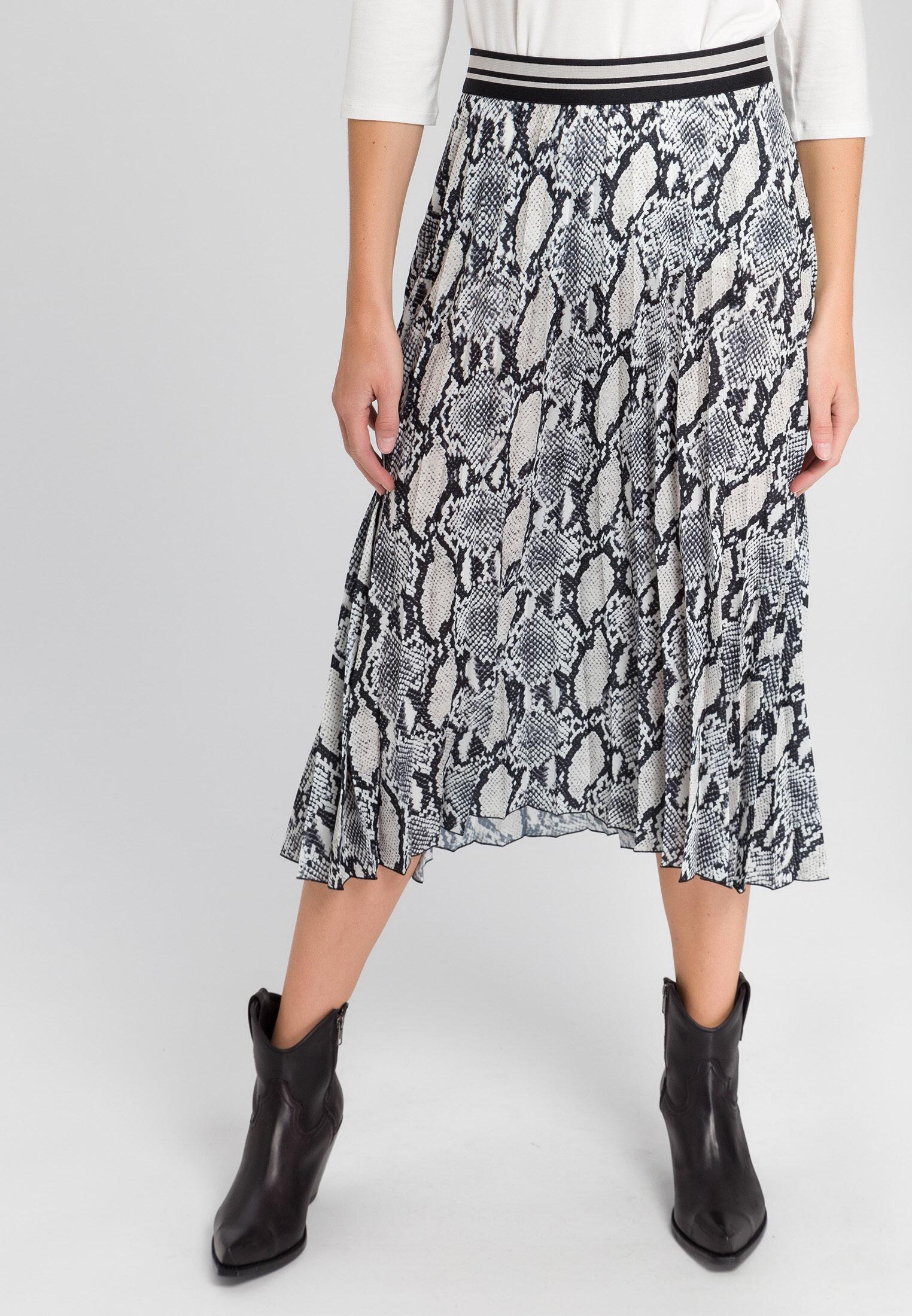 Marc Aurel snake print skirt