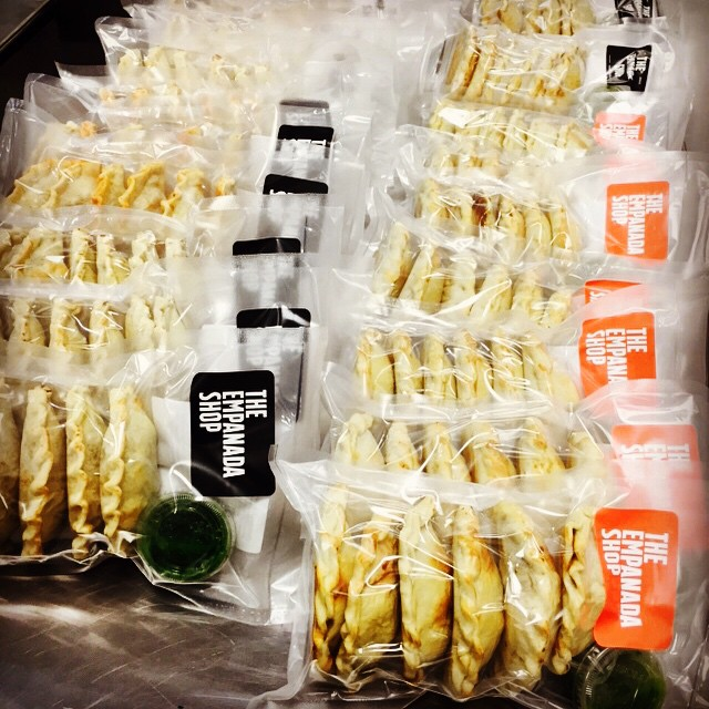 Fresh batch of Carnitas, Carne Asada, Chicken, Bean&Corn #Empanadas going out to @good_eggs for a Spicy Valentines!