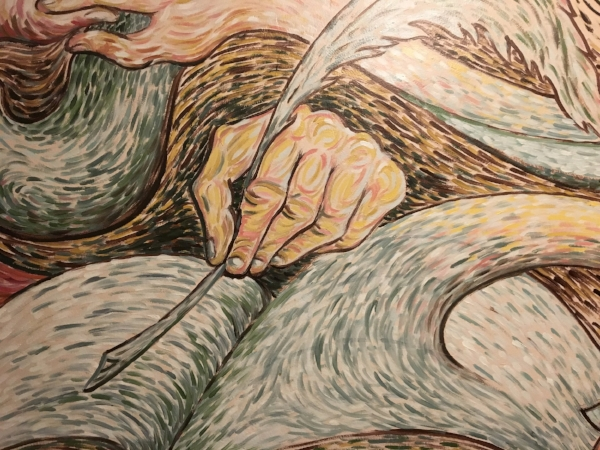 """Writer detail from """"Kitchen Mural"""" by  Roy Chambers  (2008)."""