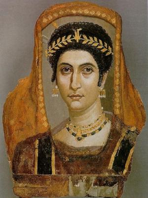 Encaustic portrait of Isidora.Egypt, 100 CE.