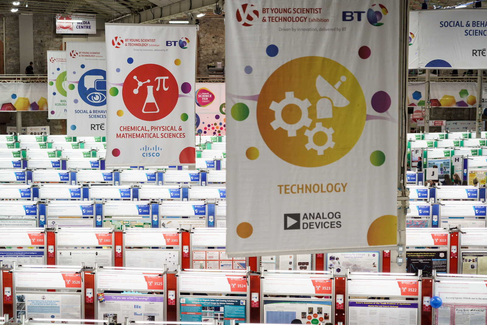 CISCO at BT Young Scientist and Technology Exhibition 2019 RDS Dublin Ireland.
