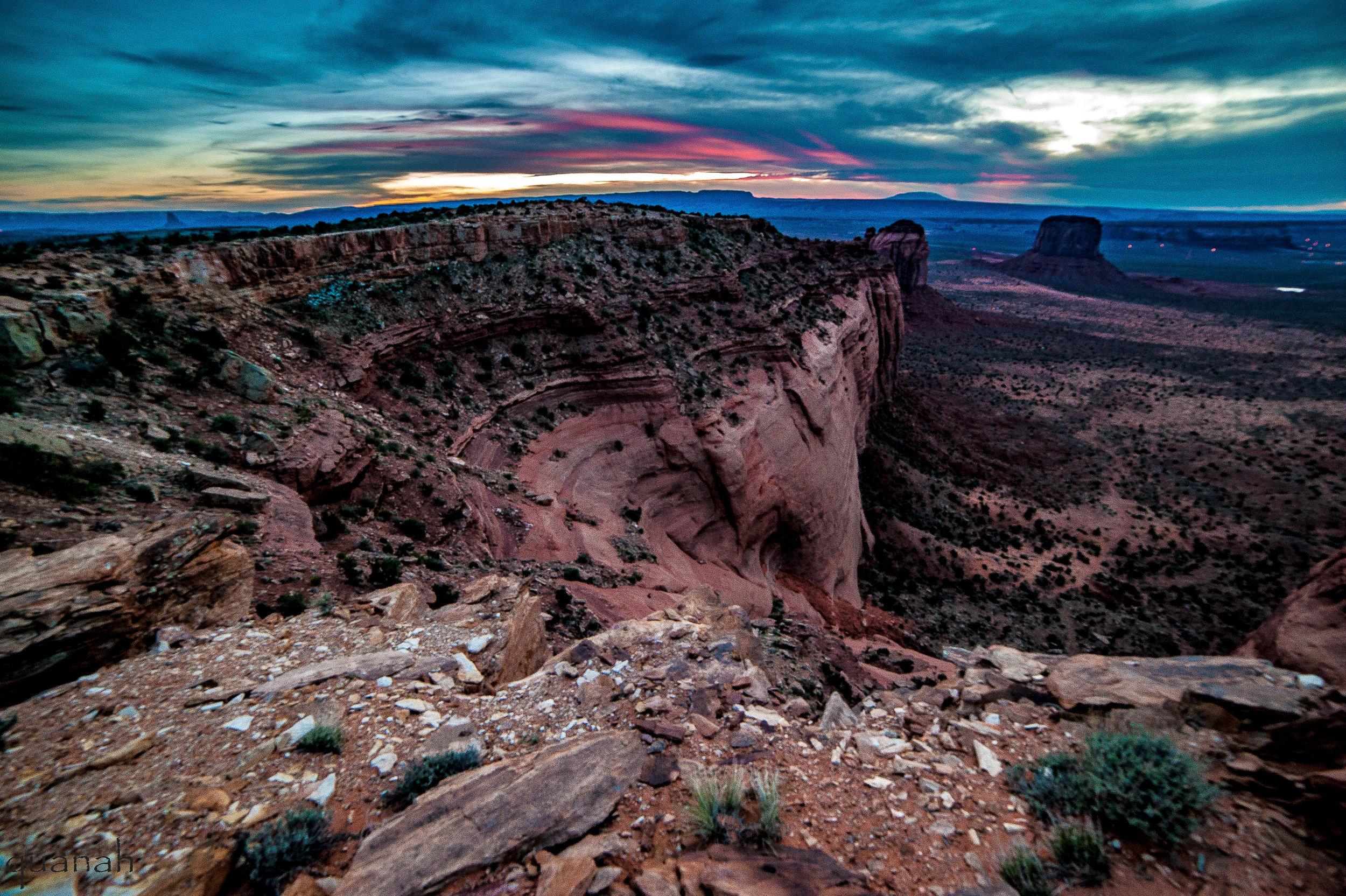 Navajo land overlook