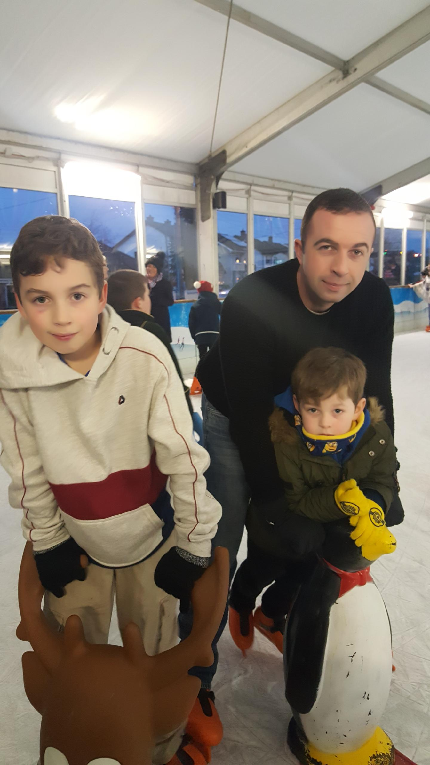 Paul and the kids at  Swords on Ice