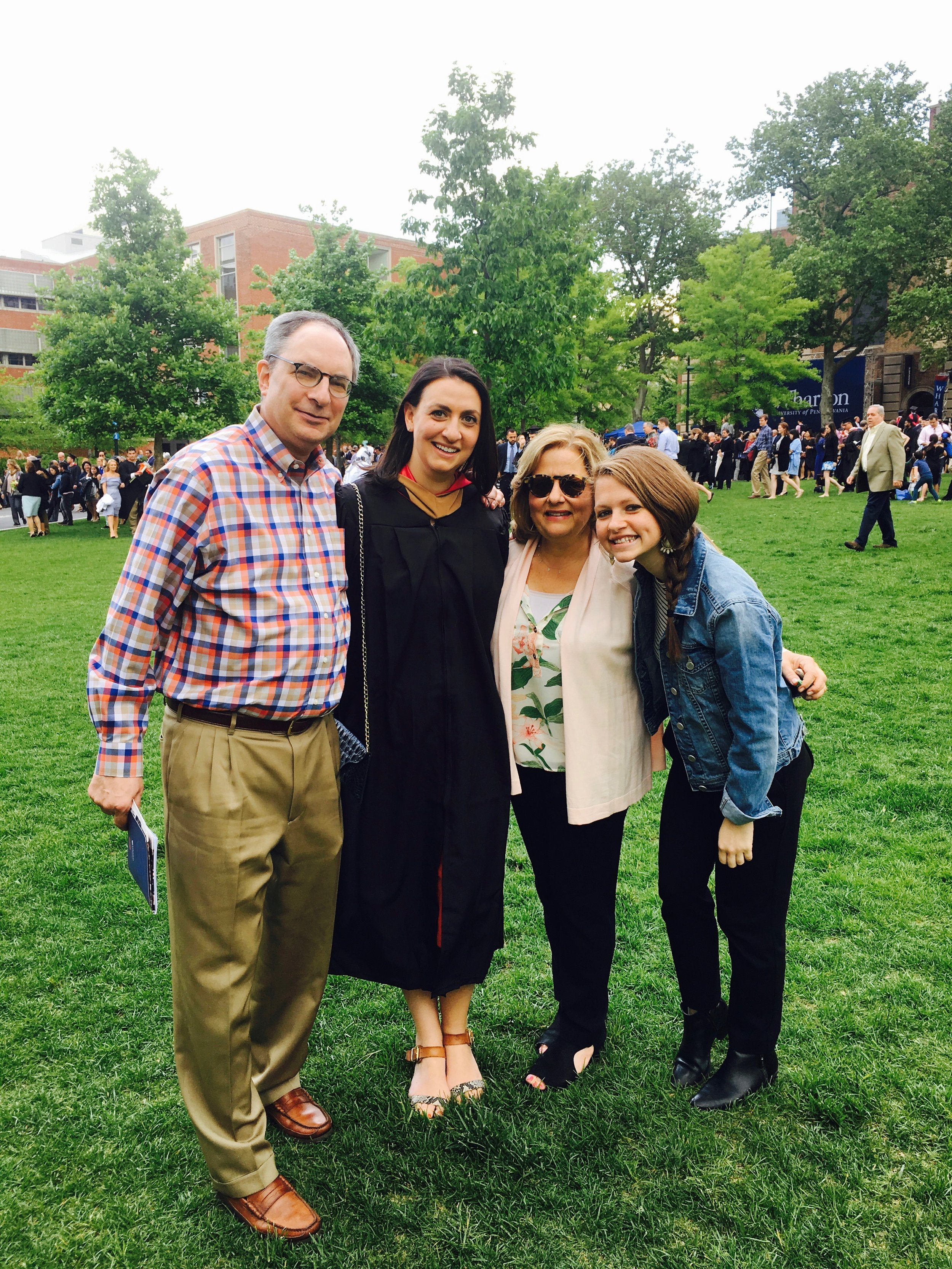My family at my sister's graduation from business school!