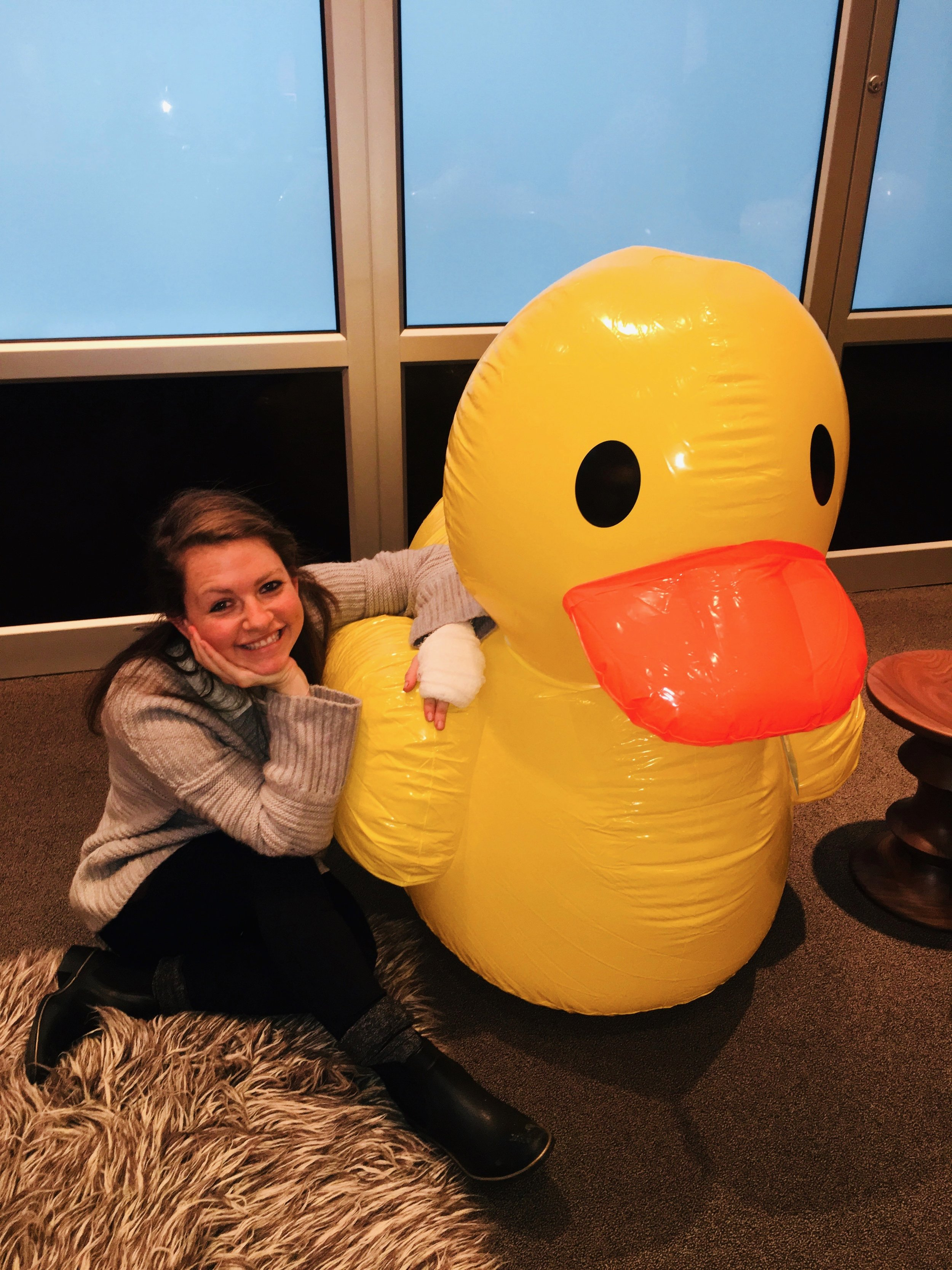 Most people burn their hand and put on cream. I burnt my hand and was shaking and nauseous for two days. But let's talk about this duck...right?