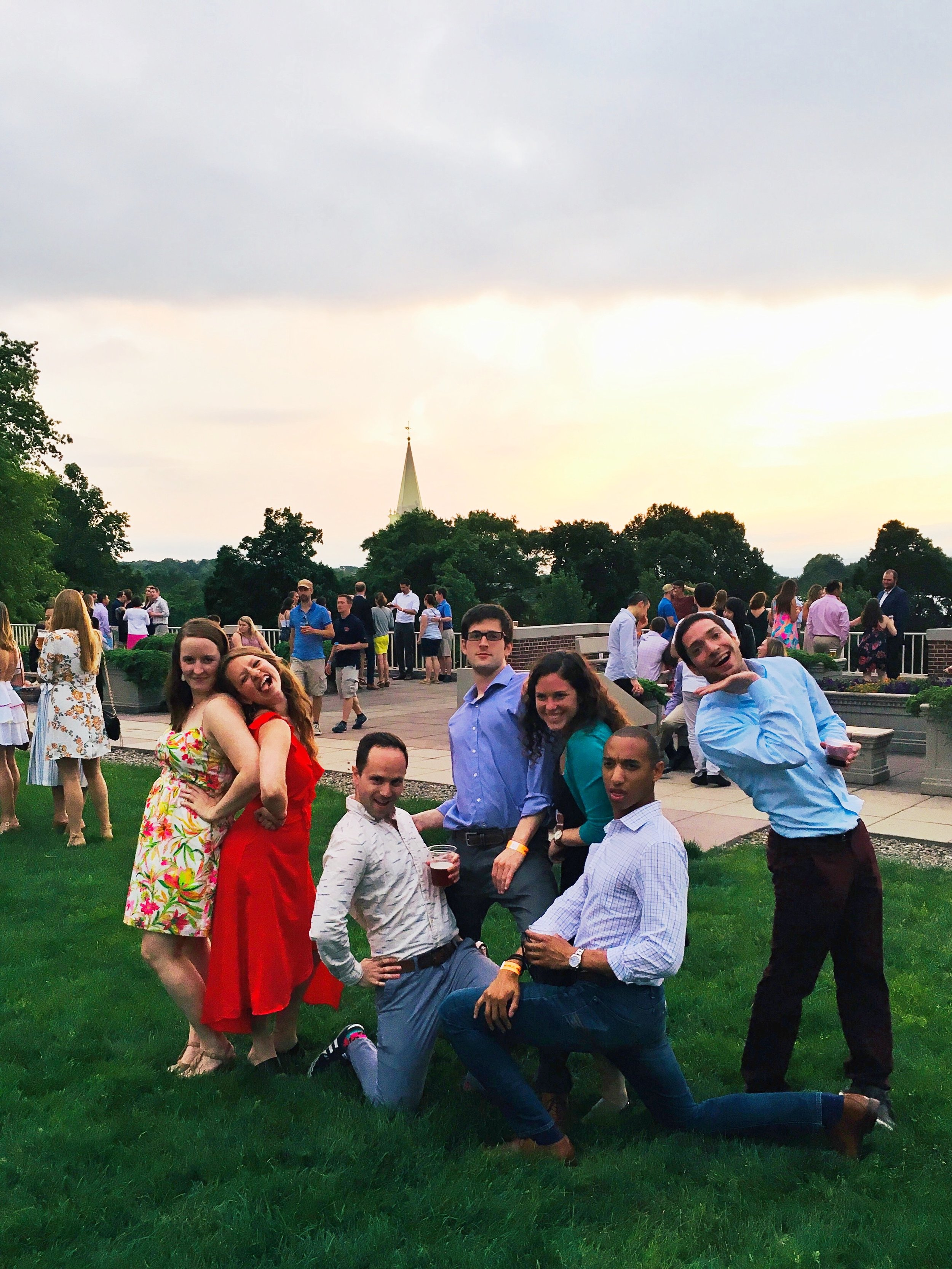 Total silliness with friends at my five year college reunion