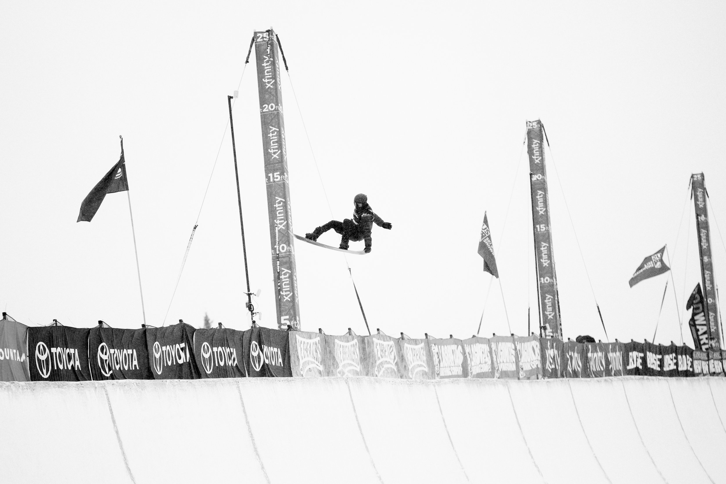 Snowboard halfpipe qualifiers
