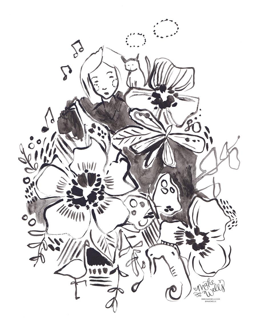 Happy Little Ink Doodles - Teal - Day 351 - web.jpg