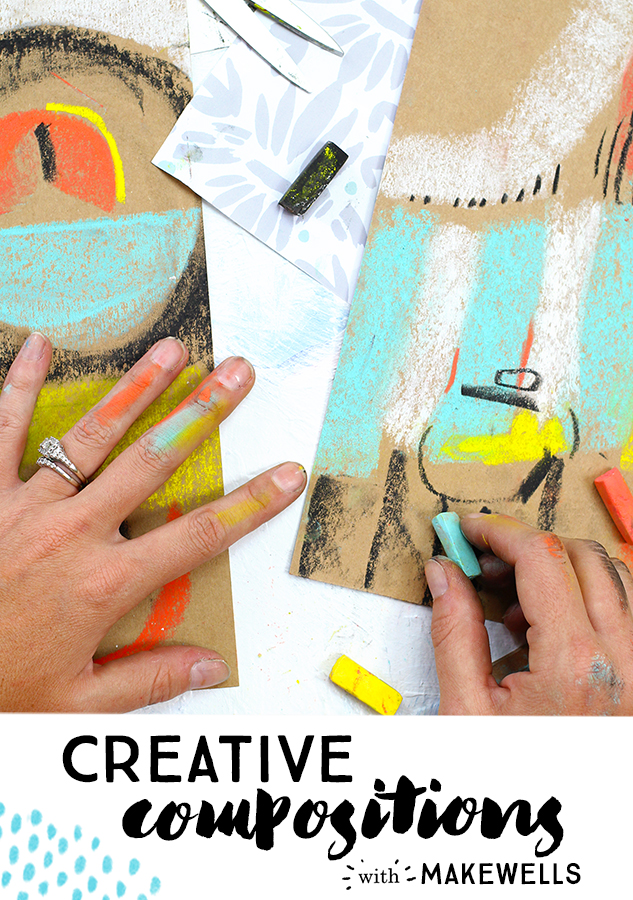 Learn the rules of composition (so you can break them, of course!) In this class, Megan Wells from Makewells will guide you through fun, creative projects that will lead you to a solid understanding of the elements and principles of art that make up strong compositions. We'll play with a whole bunch of supplies and learn how to arrange compositions that will carry over into your painting, lettering, drawing, scrapbooking...whatever your creative outlet is!  Sign up  HERE