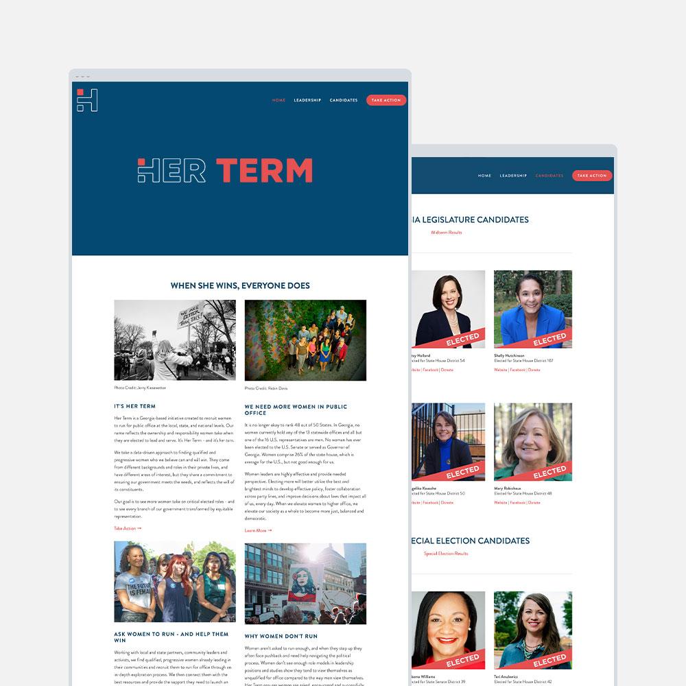 Her Term, Political Org. recruiting progressive women for office