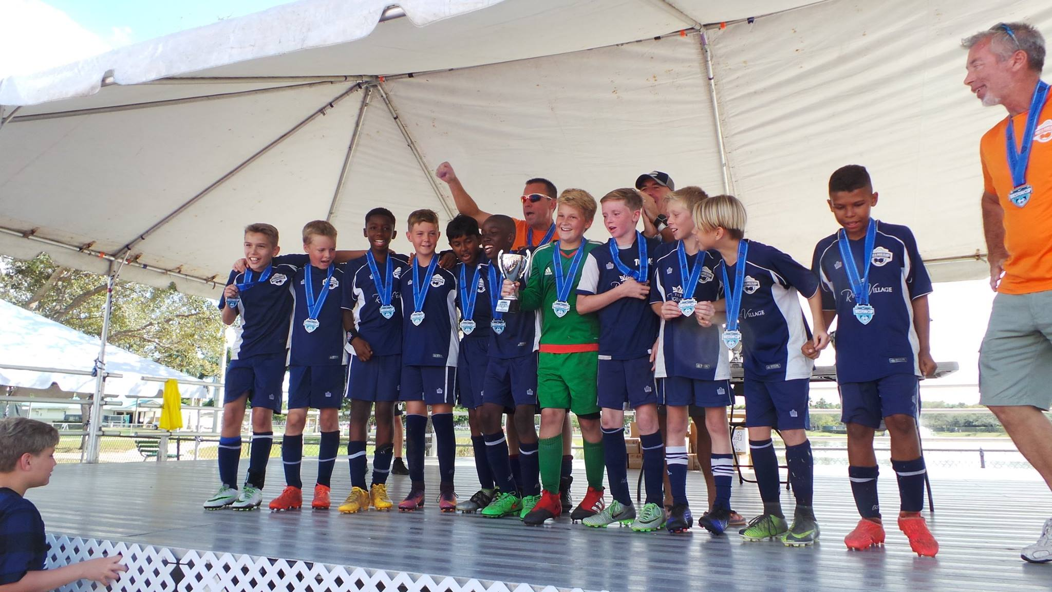 Boys under 12 bronze medal winners