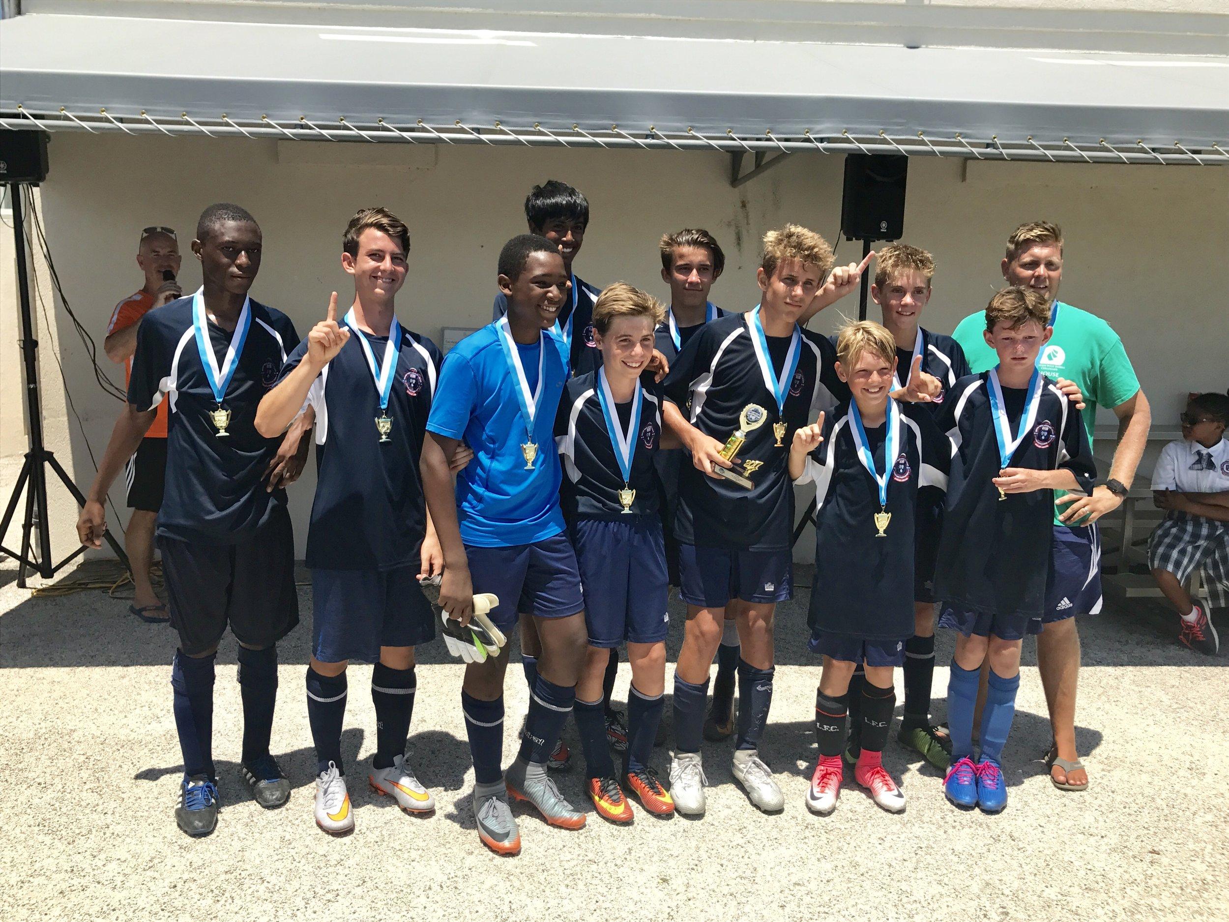 Boys 1st place, British West Indies Collegiate A