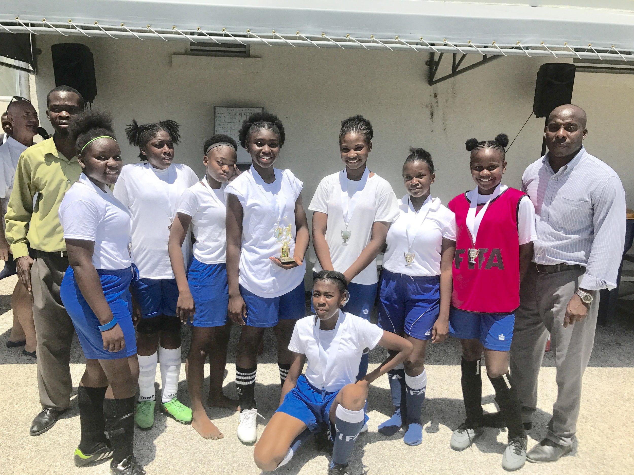 Girls 2nd place, Long Bay High