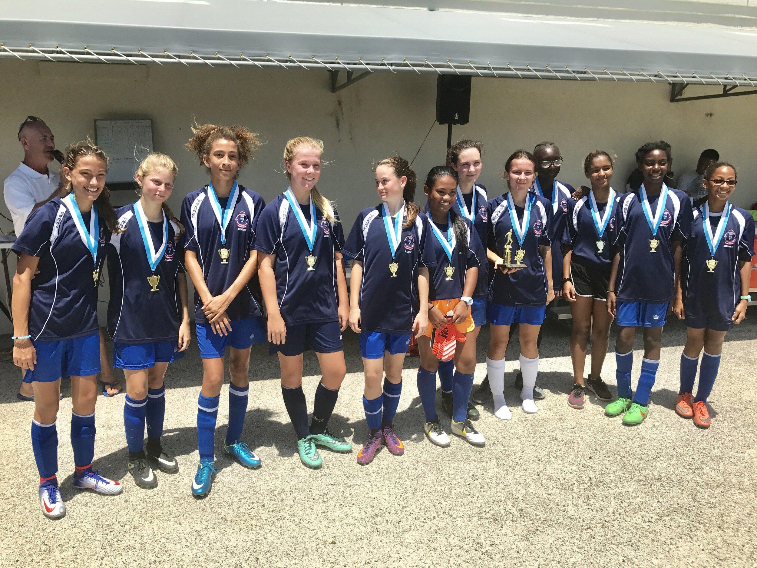 Girls 1st Place, British West Indies Collegiate
