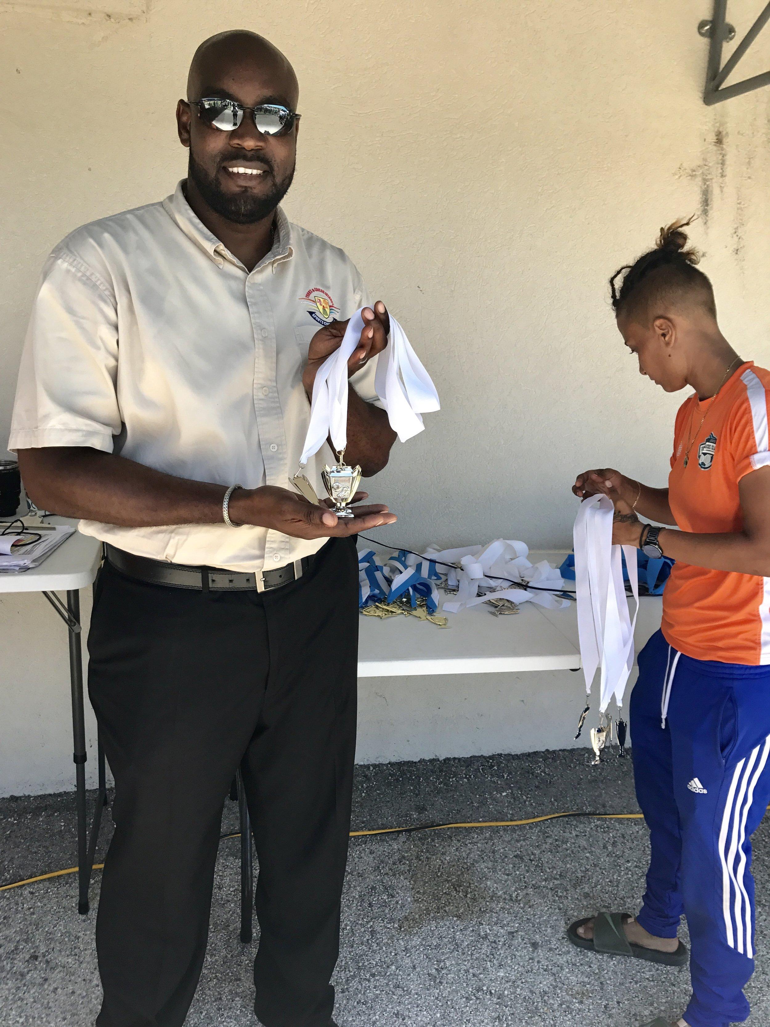 Alvin Parker, Senior Sports Officer of the Turks & Caicos Islands
