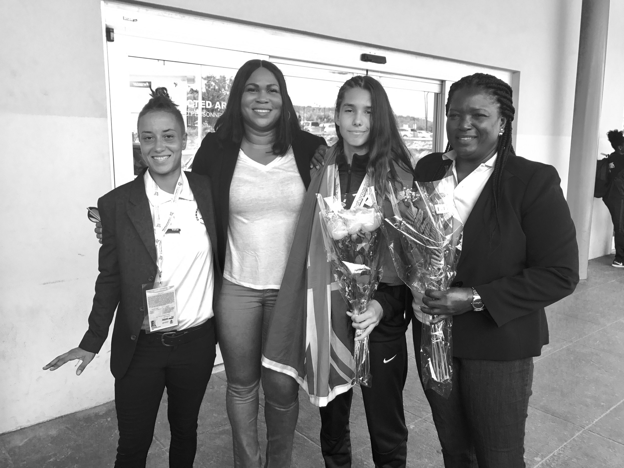 (L-R) Olivia Graveley, Sonia Bien-Aime, Sydnee Campbell, Paula Garland