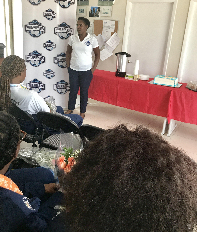 Remarks by Tamara Hall, TCIFA Executive Member responsible for Beach Soccer