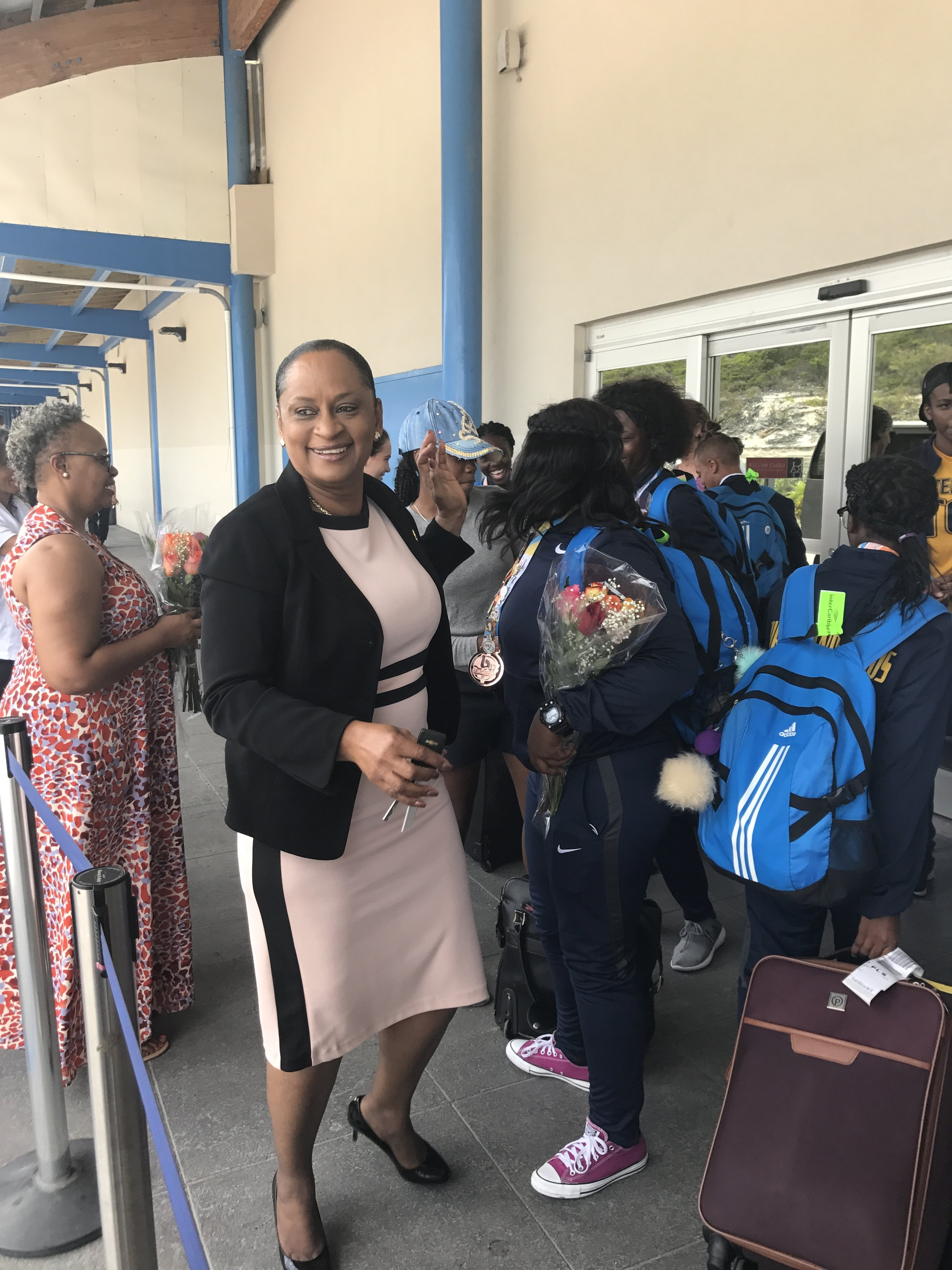 Hon. Karen Malcolm, TCI minister of Education, Youth, Sports, and Library Services