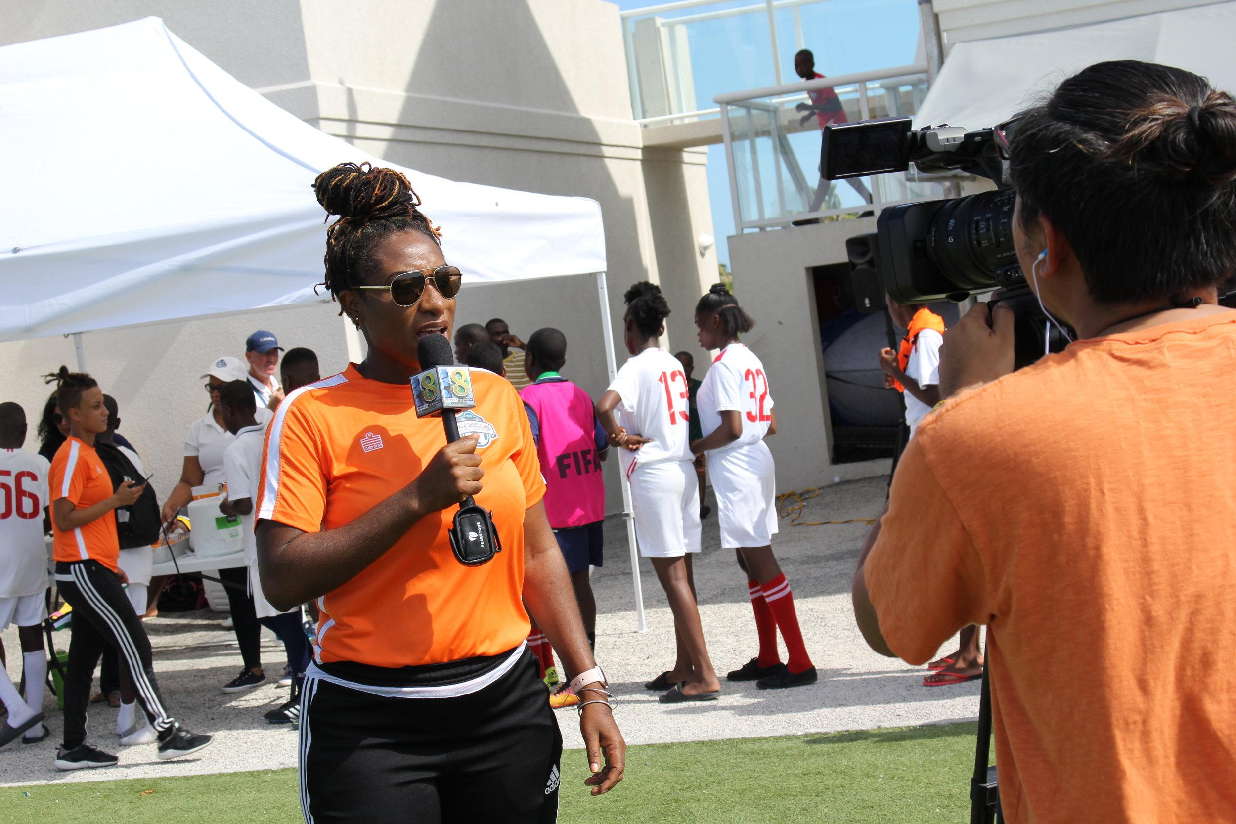 North Caicos Development Officer, Karmeta Burke