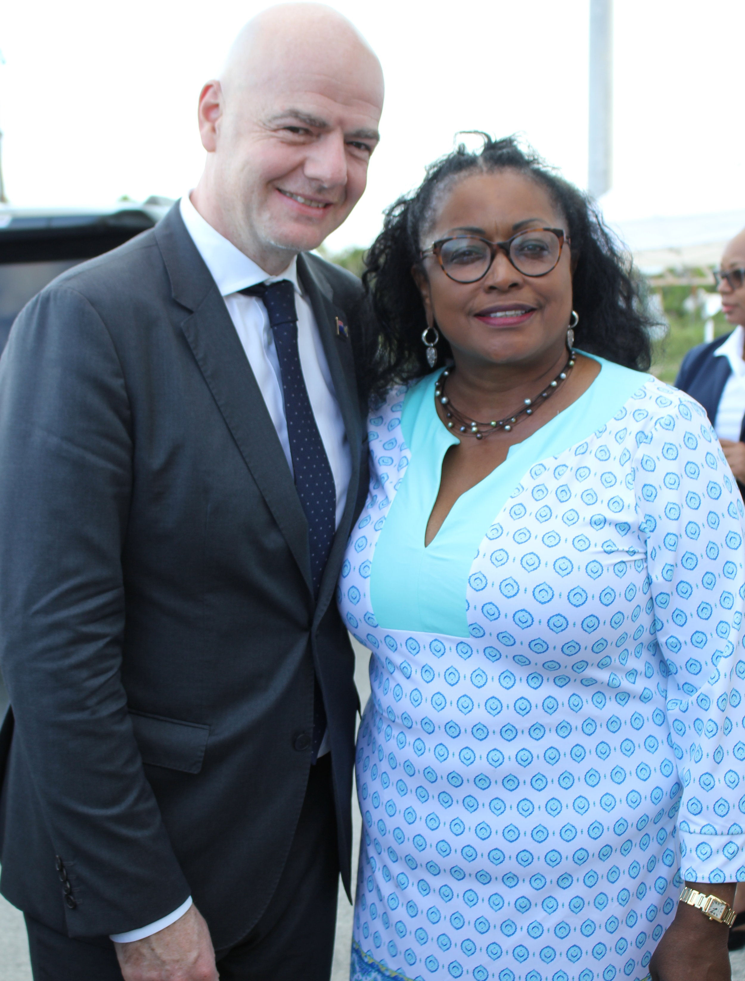 FIFA President Gianni Infantino with Hon. Josephine Connolly