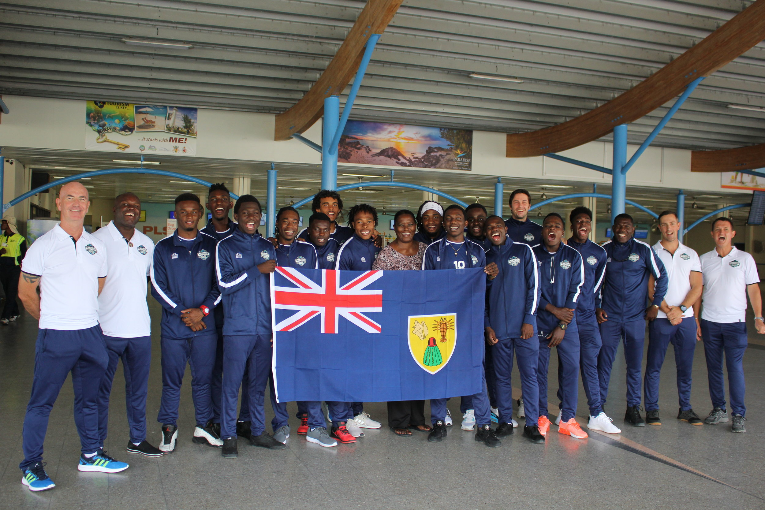 National Team Departure, excluding Captain Billy Forbes and Makenson Cadet  (travelled different routes).