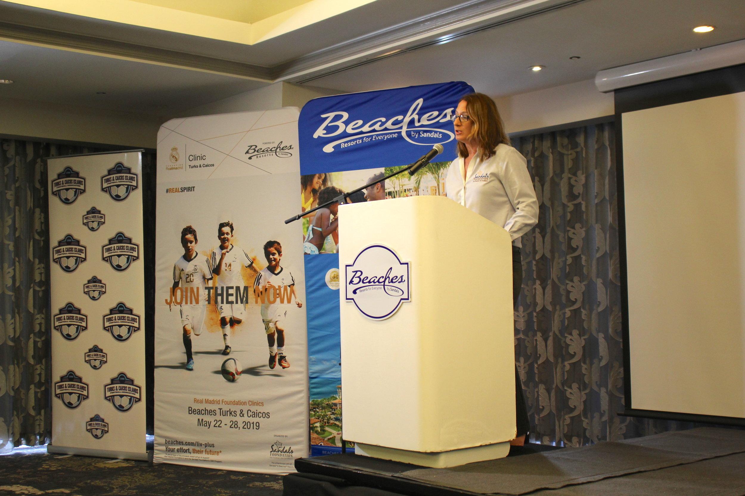 Executive Director of Sandals Foundation- Heidi Clarke