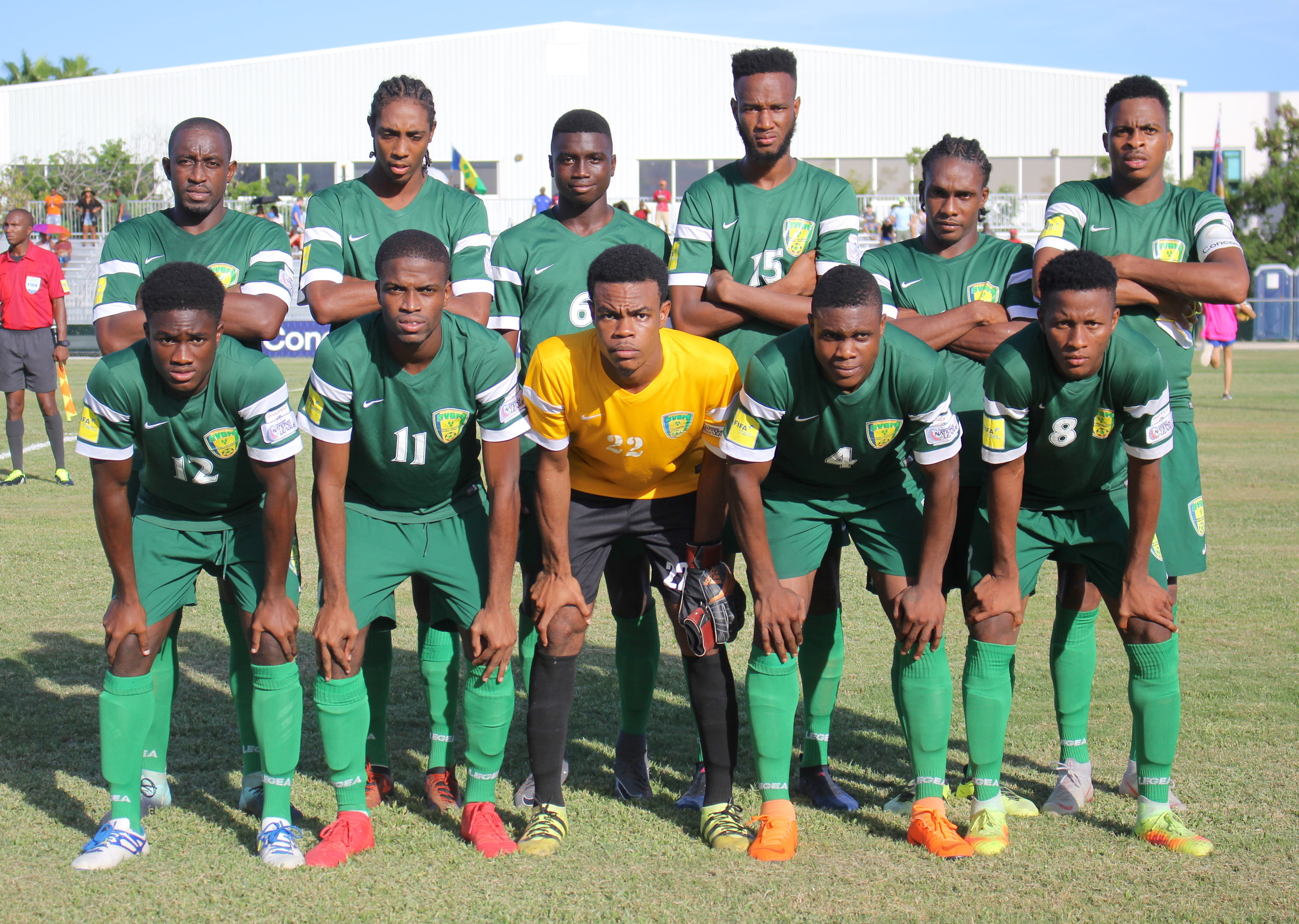 St. Vincent & The Grenadines starting 11