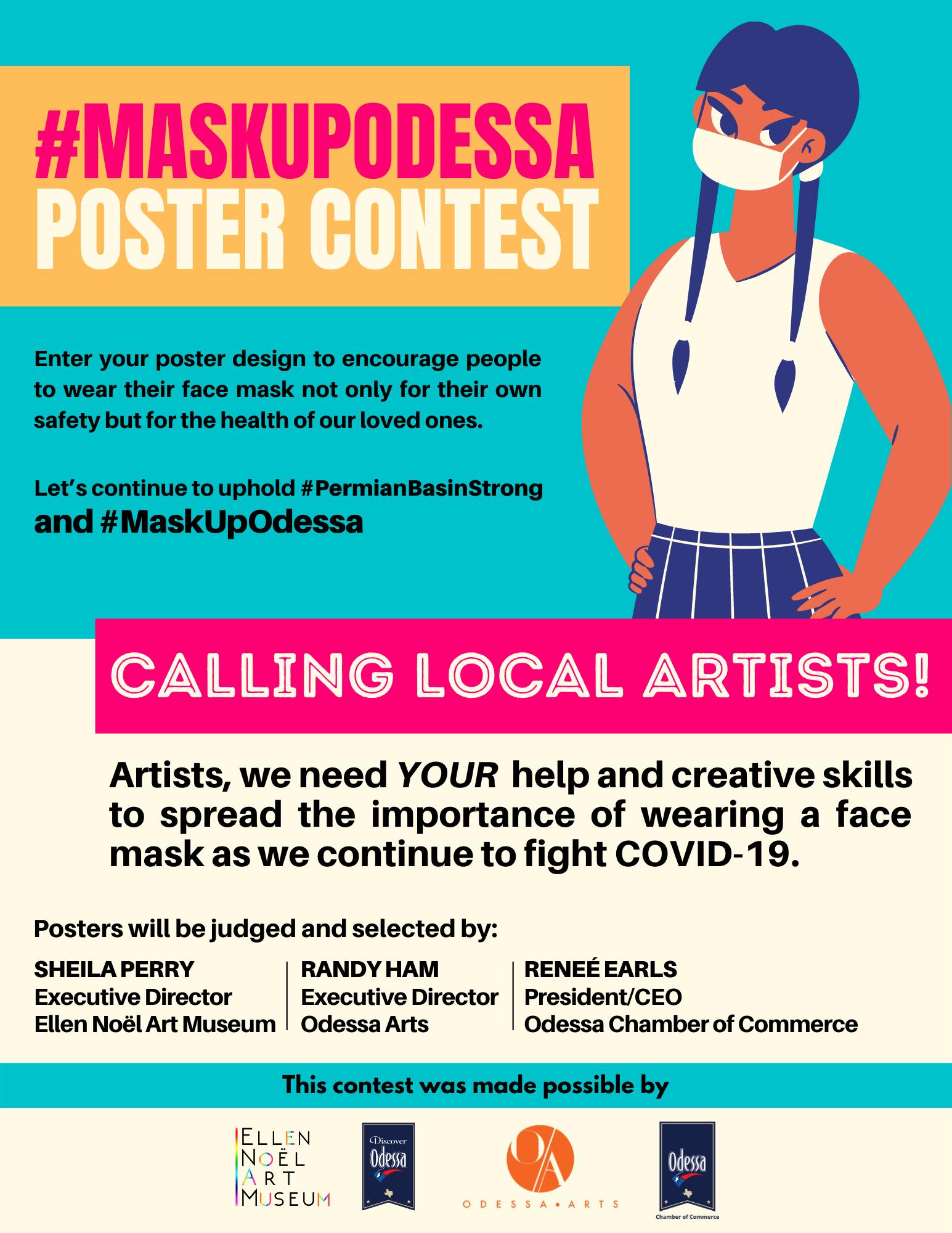 Noel Org MaskUpOdessa   Poster Contest — ellen noel art museum