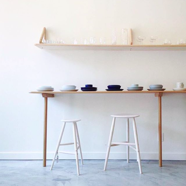 Steven Alan | Drink Stool, Tall Stool, Maple, Bleached.png