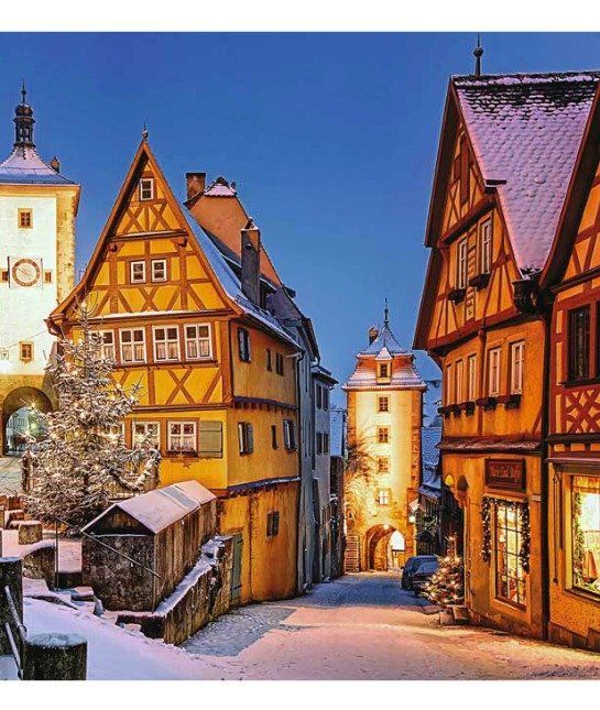 Rothenburg  at Christmas is a cozy and inviting scene.