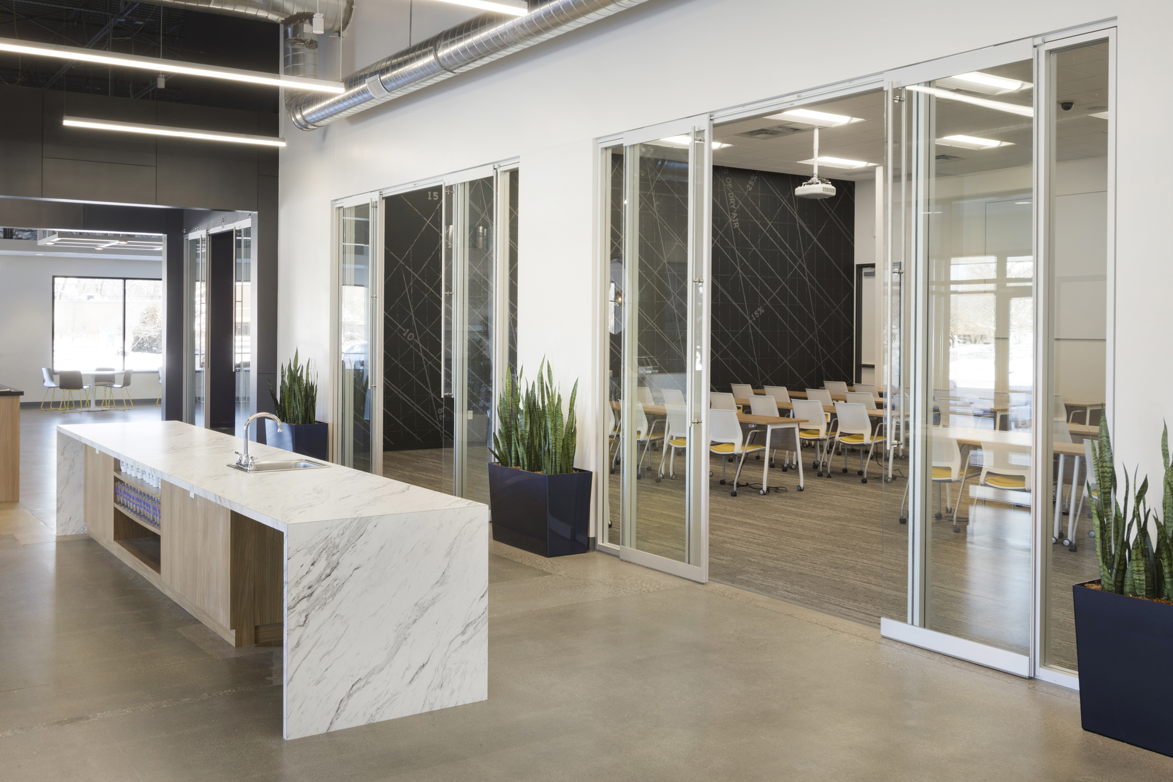 Workplace Entry Design | Vela Creative Interior Design