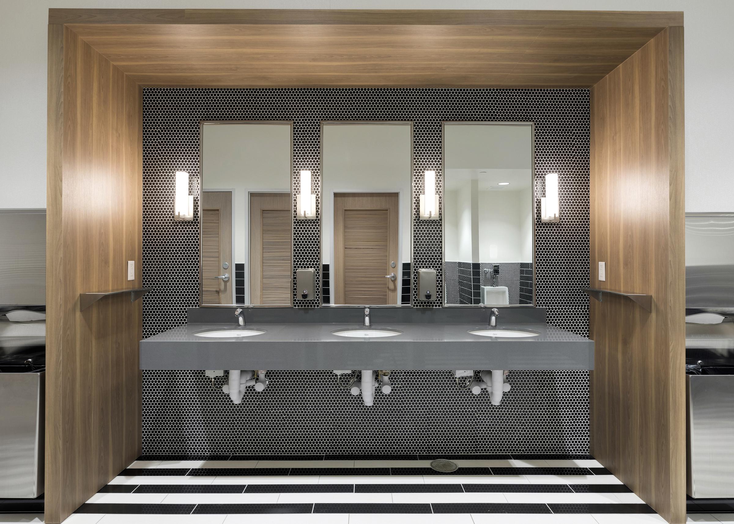 Black and White Restroom | Vela Creative Interior Design | St. Paul