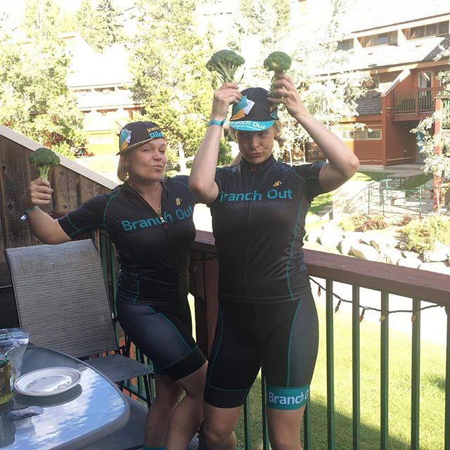 Team Broccoli is ready to bike for brains tomorrow!! Please donate to this worthy cause @branchoutnf !! #branchybiketour #branchoutfoundation #bikingforbrains