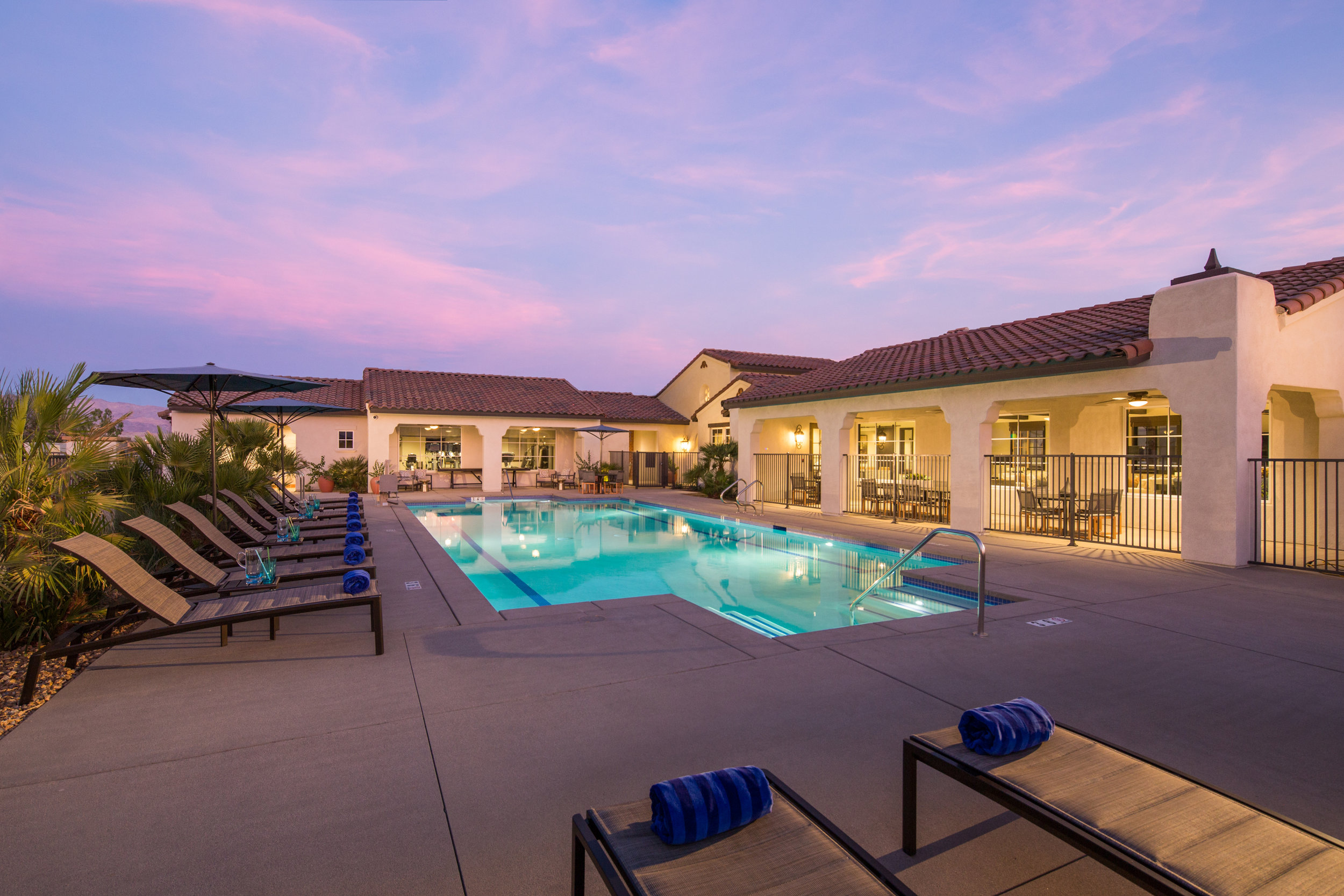 Domani Palm Desert's Resort Style Pool (Photo credit: Kaminsky Productions, Inc.)