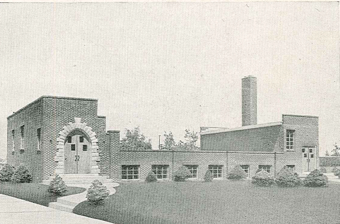Grace Bible Church's original building at the corner of Main and Clarion Street dedicated on June 6, 1948.