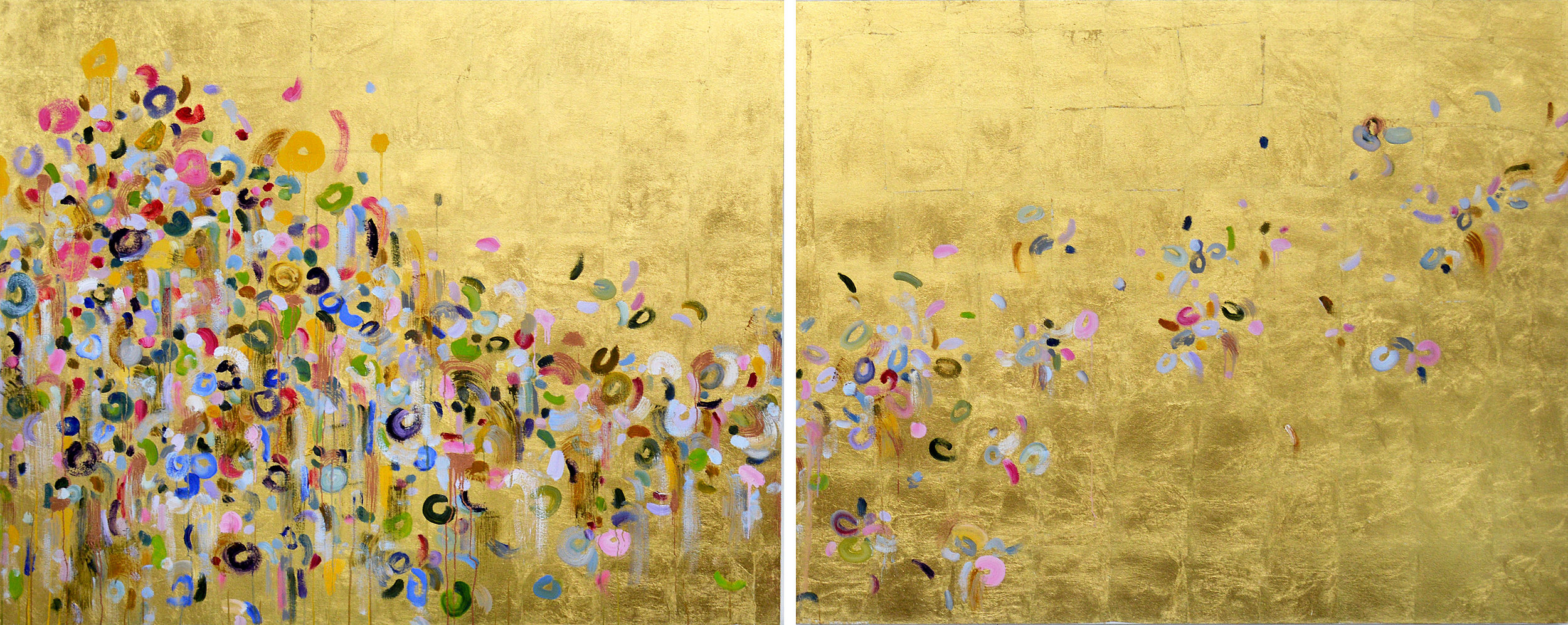 On the Run#48 x 120 in. total, diptych
