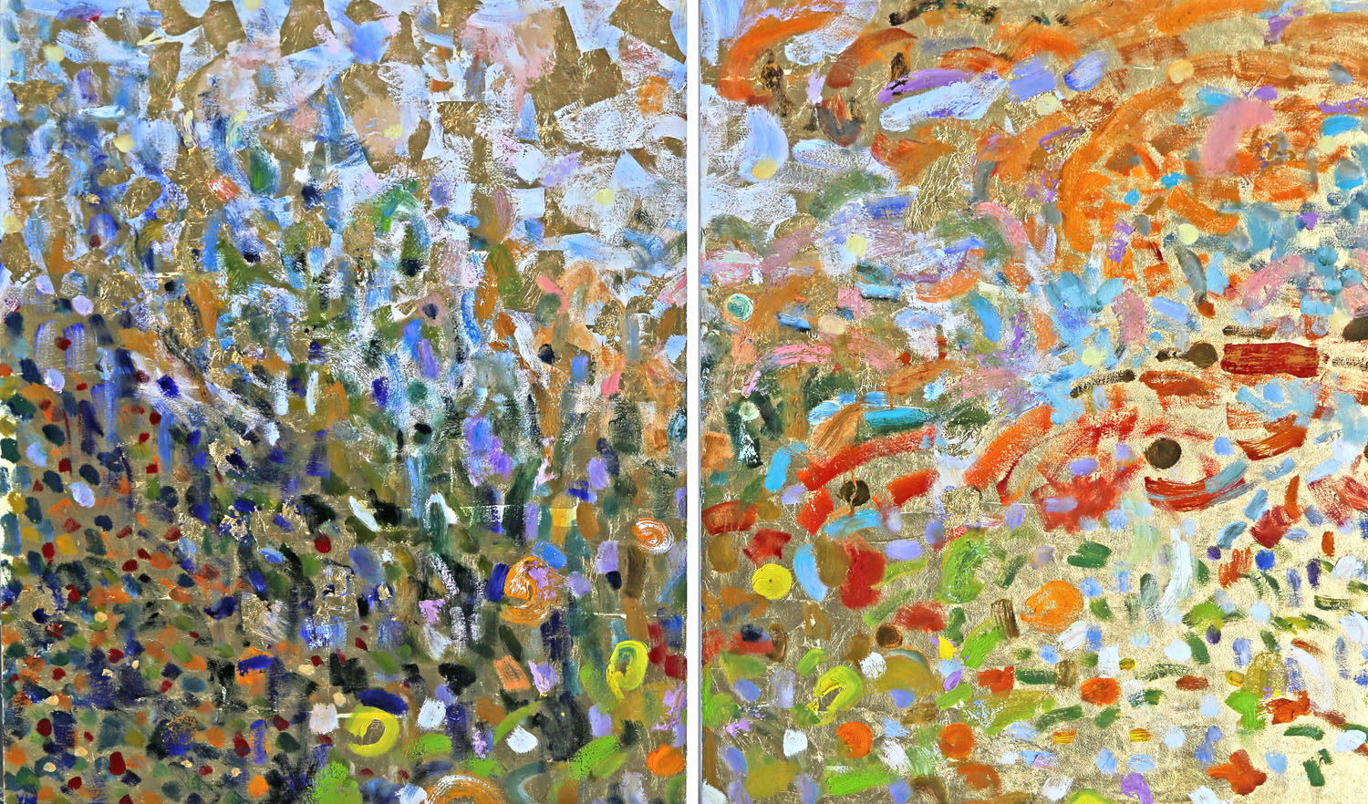 Prana*#40 x 60 in. total, diptych