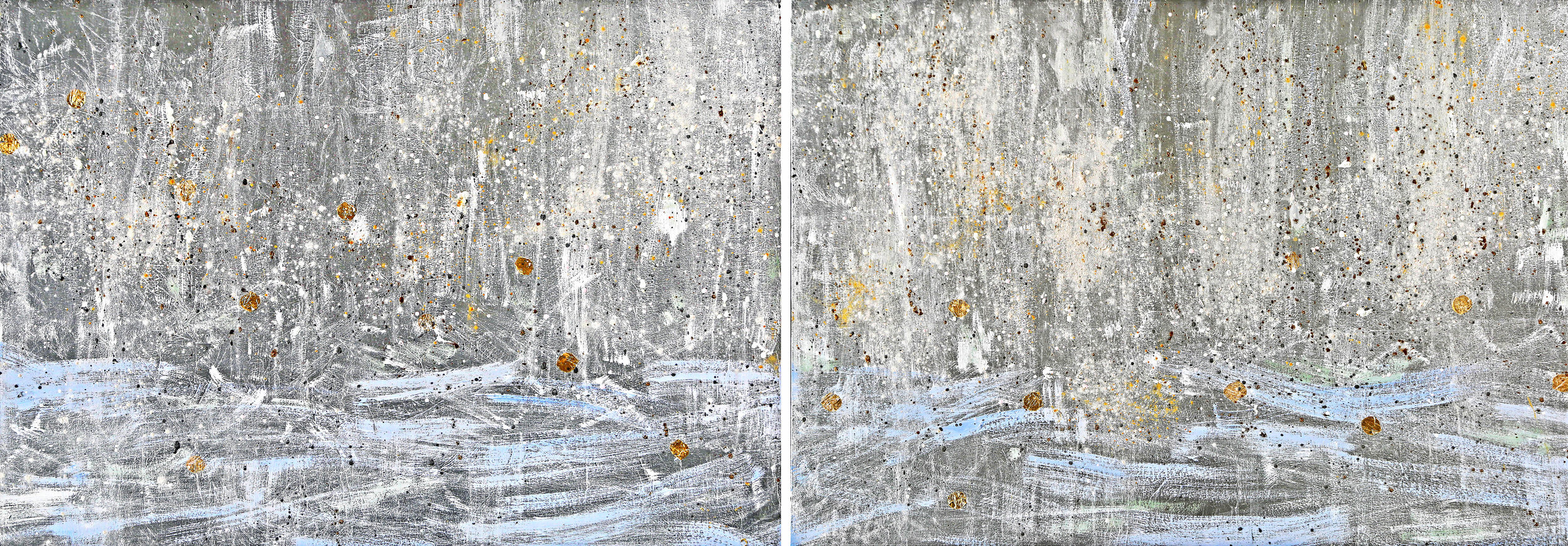 Freedom I & II#30 x 80 in., total, diptych