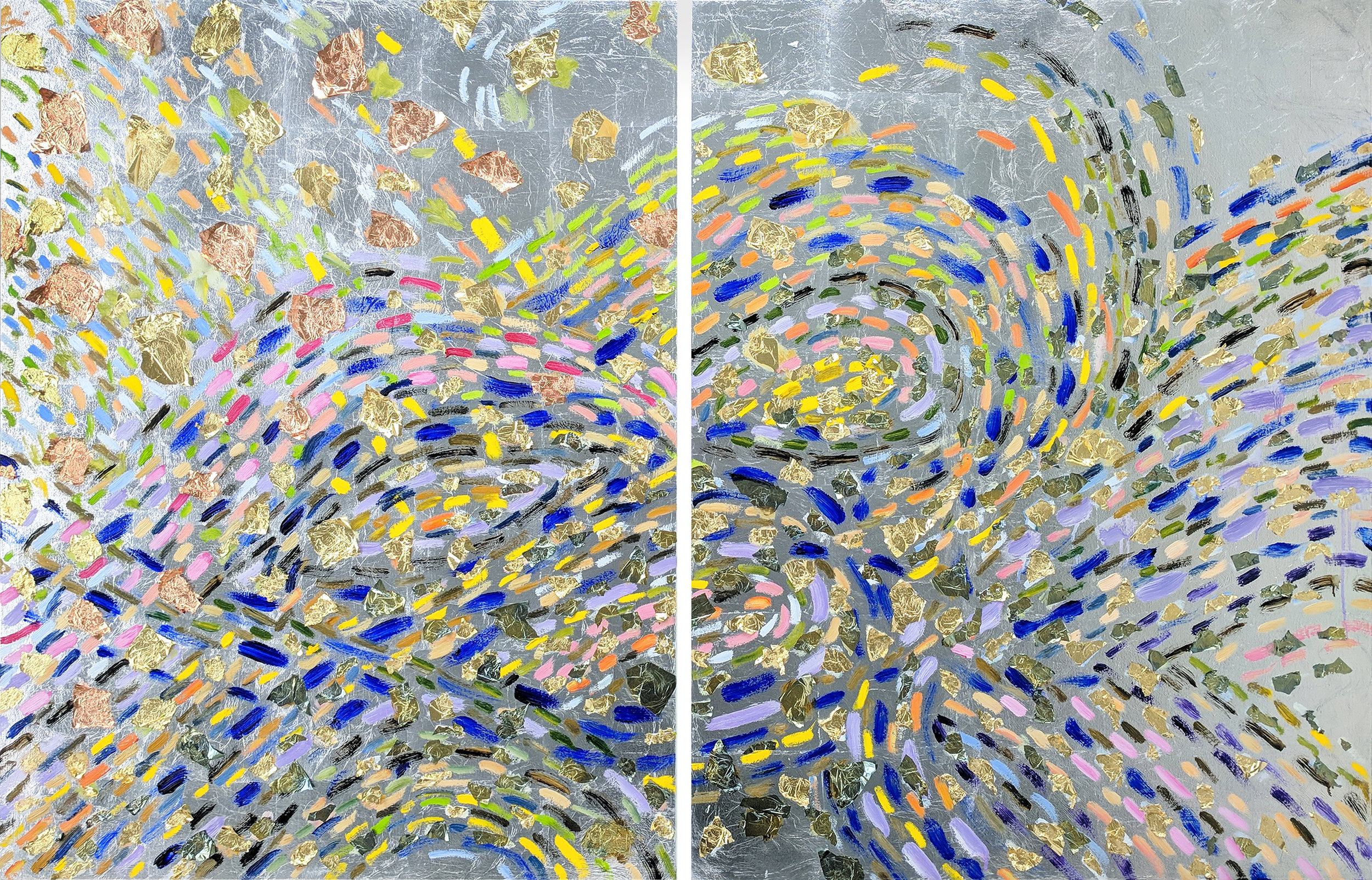 The Chariot, VII#40 x 60 in. total, diptych