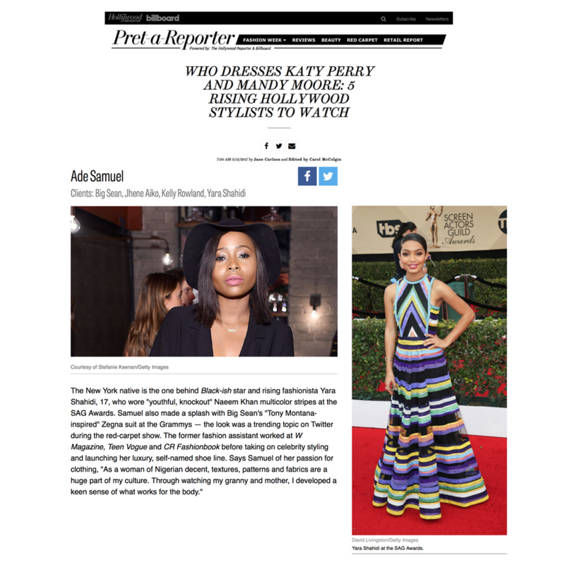 Hollywood Reporter- 5 Rising Hollywood Stylists to Watch