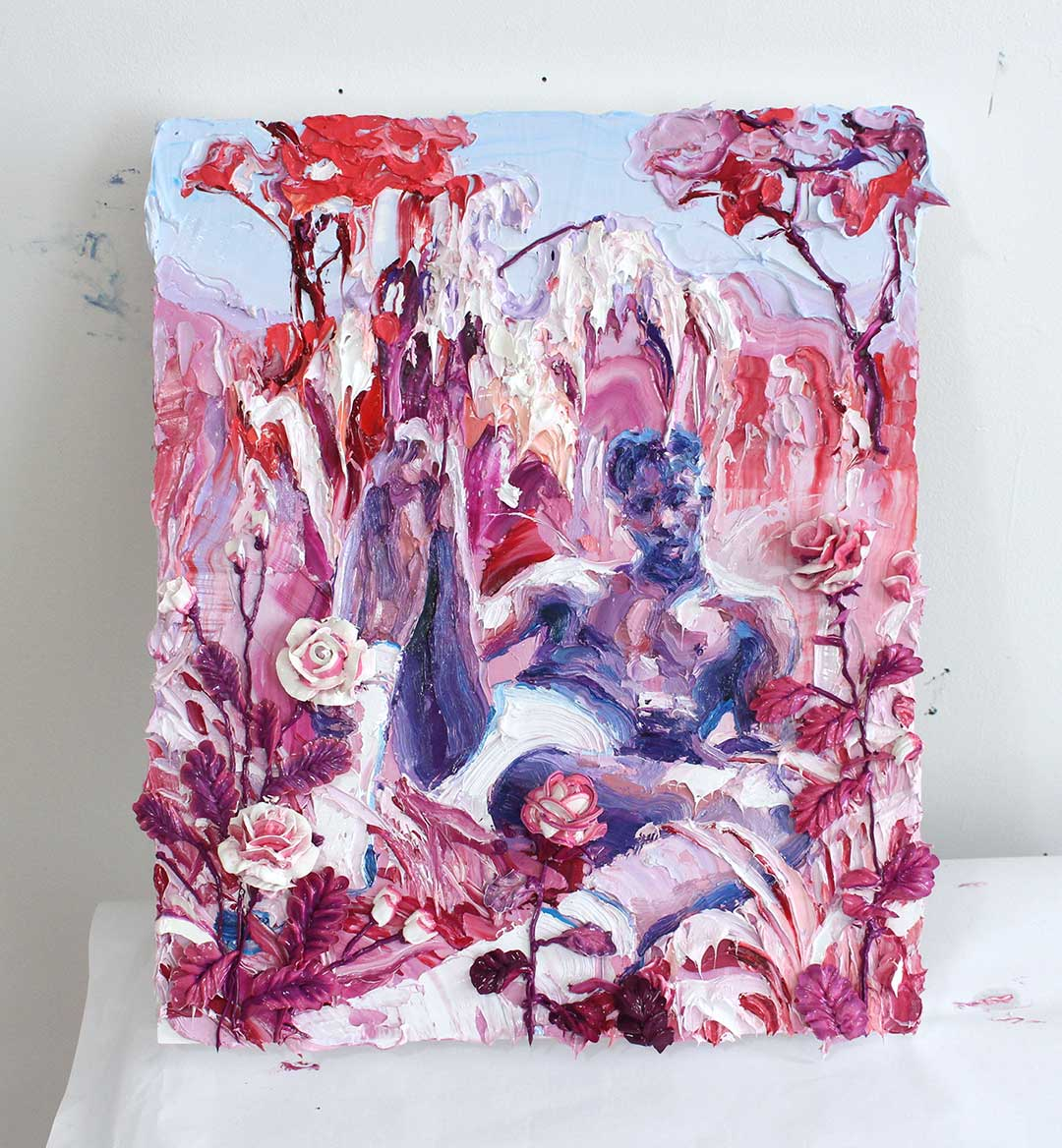 Rose Emoji. Oil on canvas. 16x24