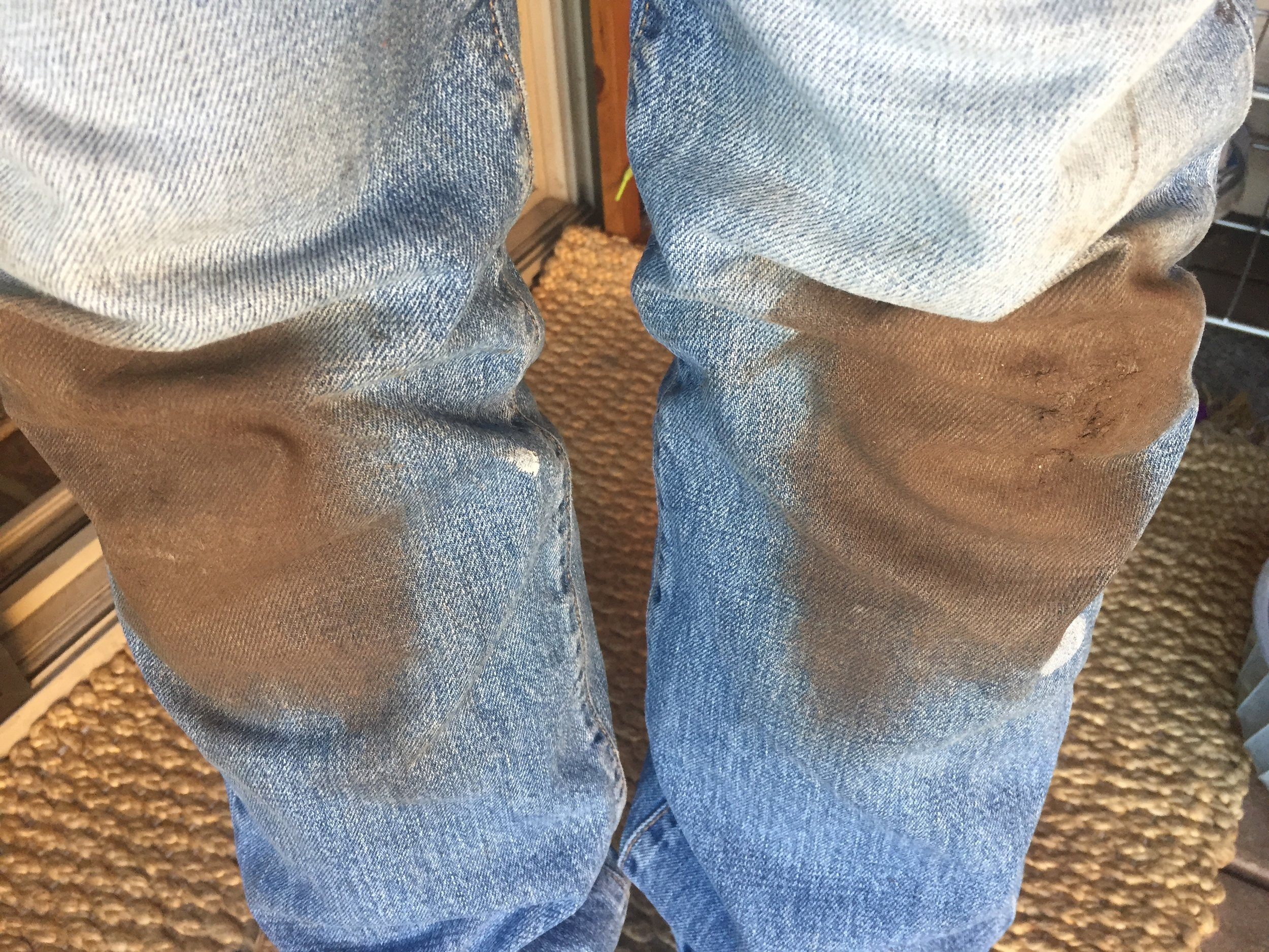 Dirty knees are always the first sign of spring!