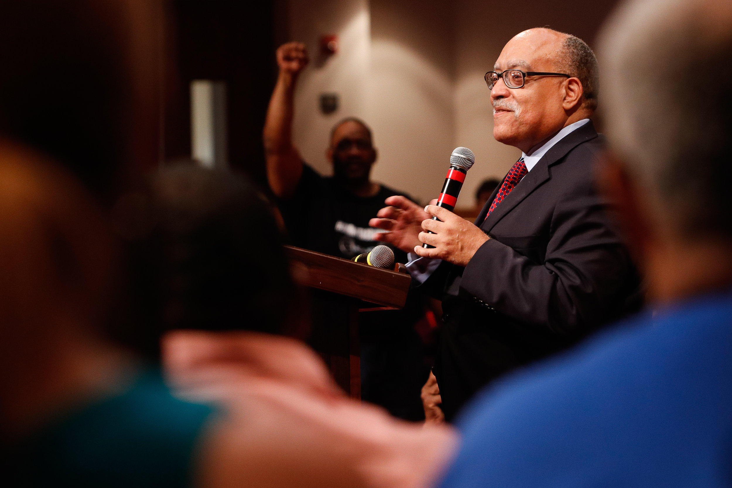 Georgia State Senator Vincent Fort speaks at his campaign rally for mayor of Atlanta at the Saint Philip AME Church in Atlanta, Ga., on Saturday, Sept. 30, 2017.