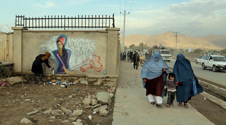 Graffiti next to Darul-Aman Palace 02.jpg