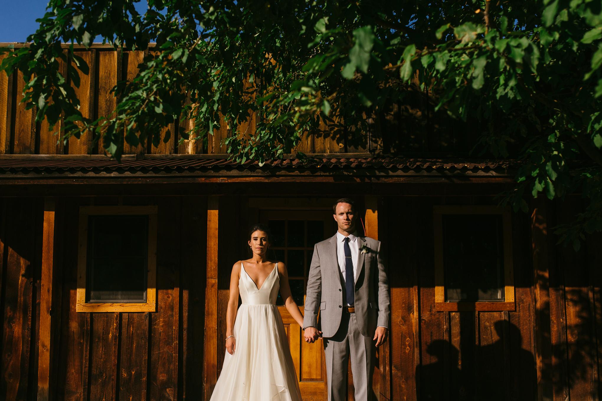 Wedding couple portrait River Bend, Lyons, Colorado.
